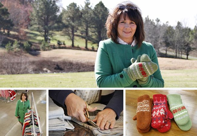 Mitten Smitten: Goodwill Sweaters Warm Woman's Heart And Hobby