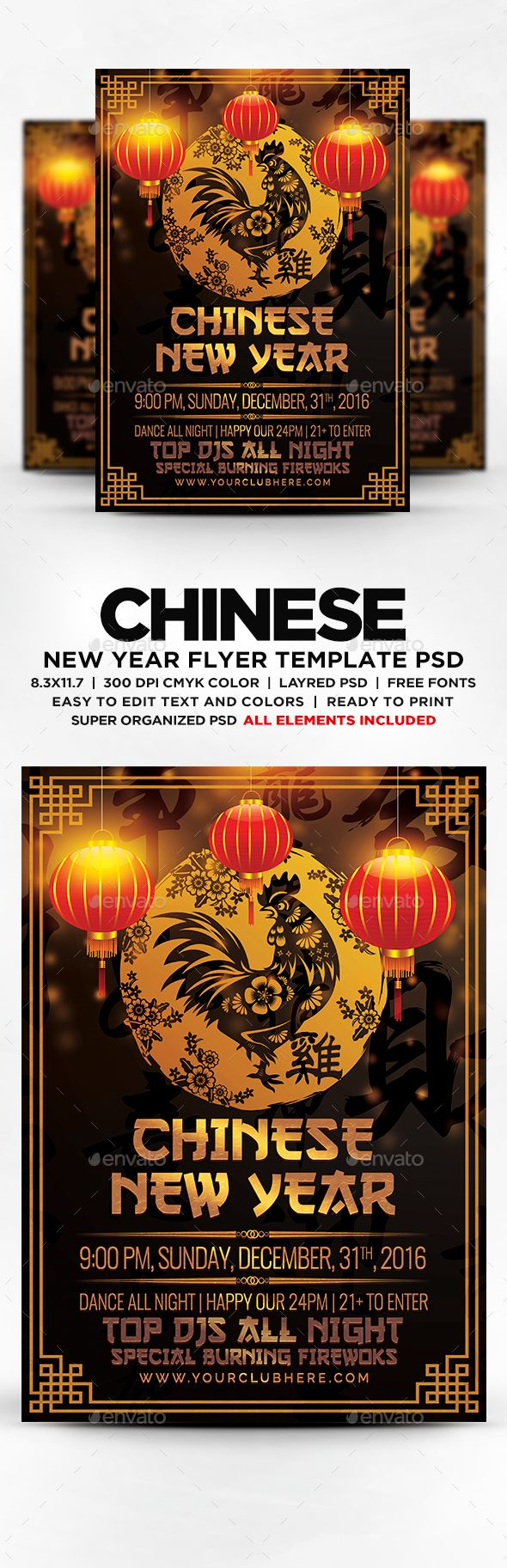 Chinese New Year Flyer - Flyers Print Templates Download here: https://graphicriver.net/item/chinese-new-year-flyer/18862085?ref=alena994