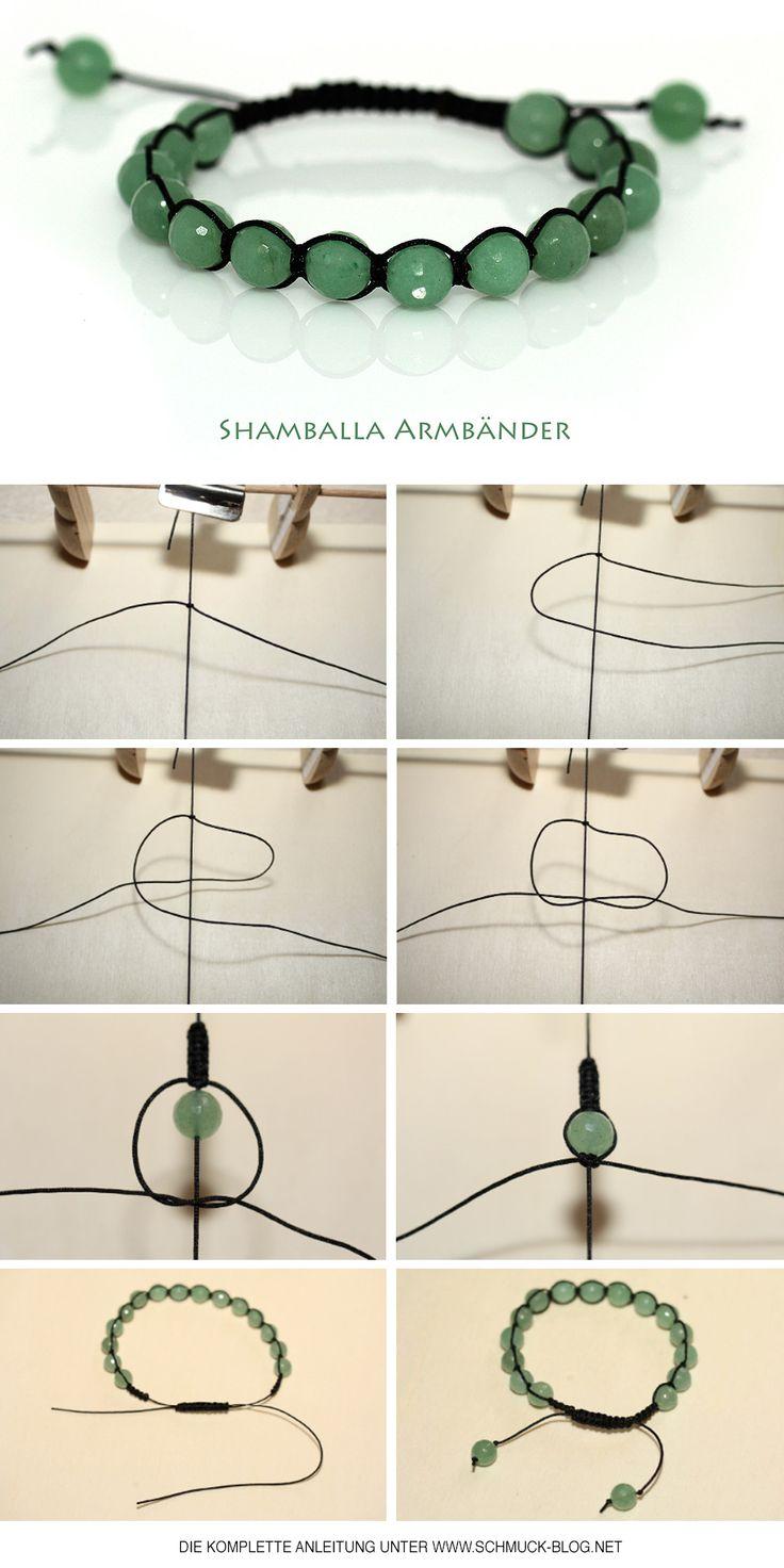 Einfache Anleitung um dein eigenes Shamballa Armband zu knüpfen. Inklusive Video Anleitung zum nachbasteln. Mit Hilfe dieser Technik kannst du wunderschöne Shamballa Armbänder basteln.