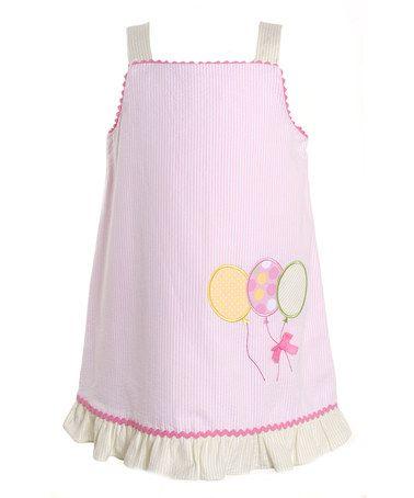Loving this Pink Stripe Balloon Dress - Toddler & Girls on #zulily! #zulilyfinds