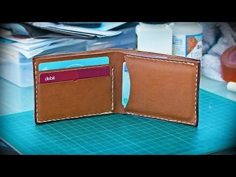 ▶ How to Make a Basic Leather Wallet (New) - YouTube