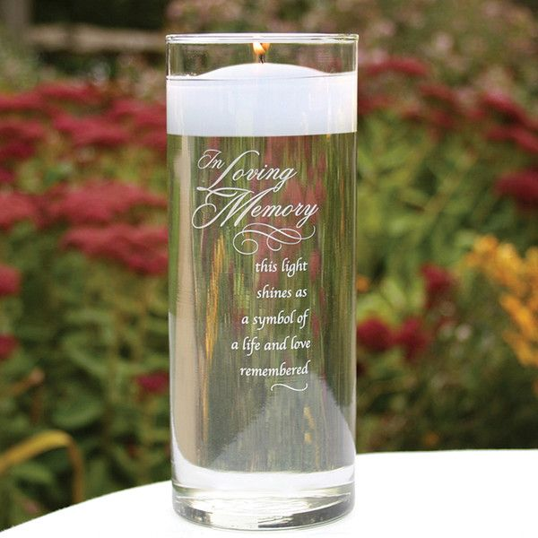 """Remember those that cannot join you during this special occasion, with this lovely crystal """"In Loving Memory"""" Vase that features the verse."""
