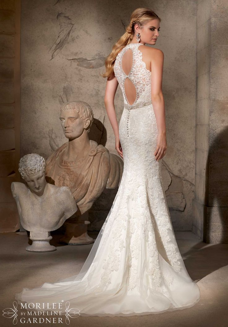 Mori Lee Wedding Dresses Atlanta: Frosted beading on embroidered ...