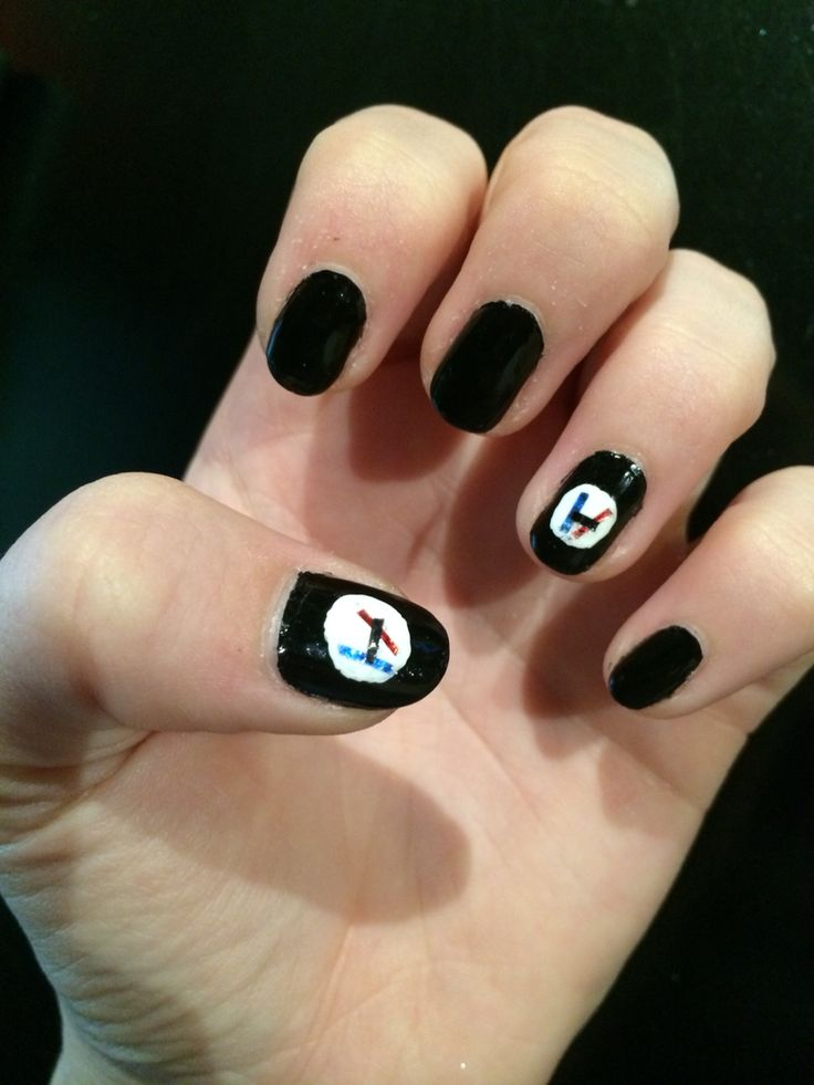Nail art inspired by one of my FAVORITE bands, Twenty One Pilots