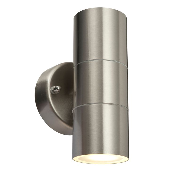 Blooma Sommus Stainless Steel External Up & Down Wall Light   Departments…