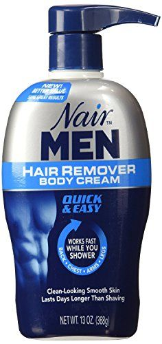 Nair Men Hair Removal Cream - 13 oz. Smooth, Radiant Skin Lasts Days Longer than Shaving. Effective on Coarse, Thick Hair. Smooth in Minutes. Stays on in the Shower. Dermatologist Tested.