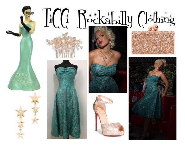 glamour night by ticci-1 on Polyvore featuring Christian Louboutin, Sophia Webster and Nina