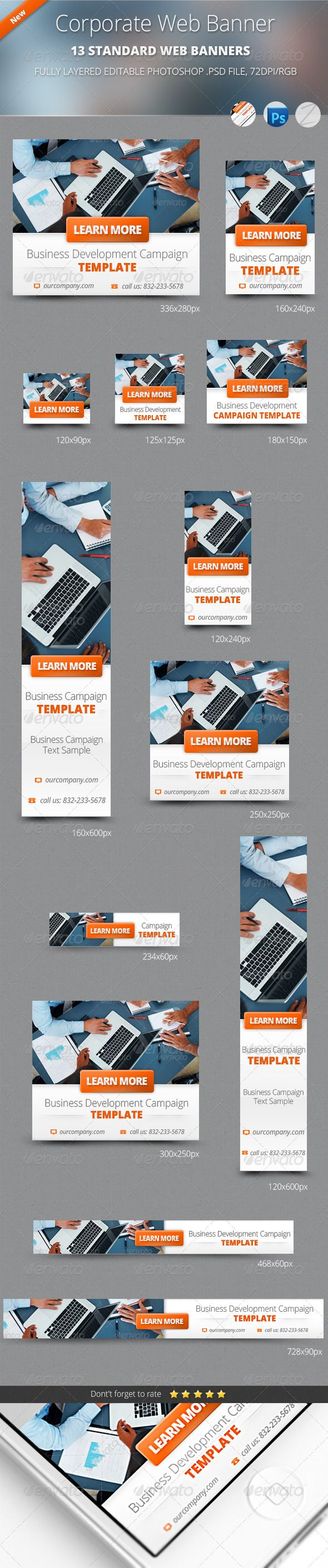 Business Corporate Web Banners Template PSD | Buy and Download: http://graphicriver.net/item/business-corporate-web-banners/4880945?WT.ac=category_thumb&WT.z_author=zokamaric&ref=ksioks