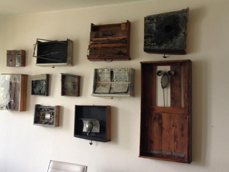"""N. Accame, """"Cassetti"""" - 1993/96: legno, vetro, ferro, inserti vari. #art #lagomaggiore"""