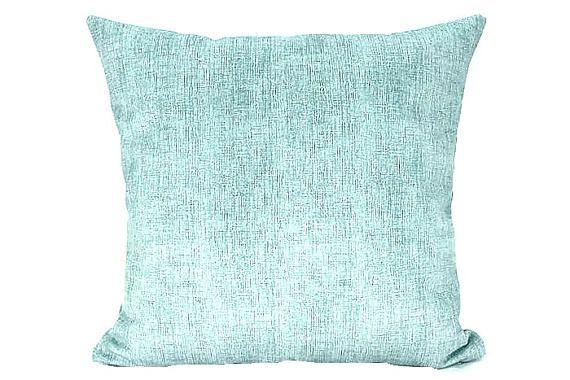 Modern abstract aqua green velvet throw pillow sham  20x20
