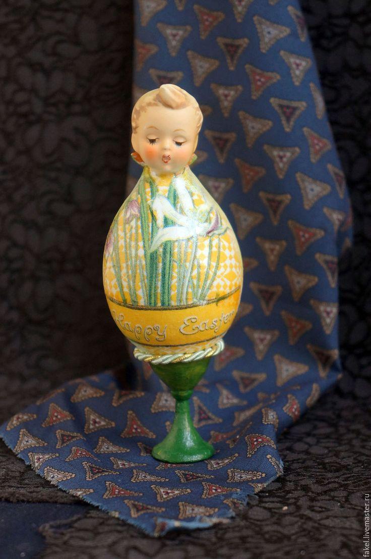 Buy Easter chick - Easter egg - Hummel boy - Easter figurine - holiday figurine, hummel