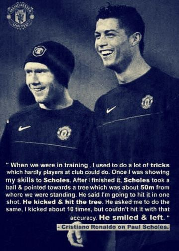 Scholes and Ronaldo #SoccerQuotes #soccer #manchesterUnited #ManU