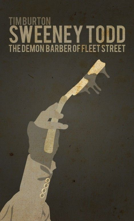 Sweeney Todd minimalist movie poster