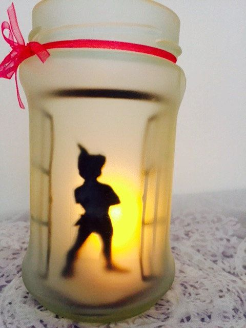 Peter Pan / fairy glow jar by CraftyCazosh on Etsy