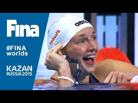Katinka Hosszu Beats 200m IM World Record in Kazan - YouTube