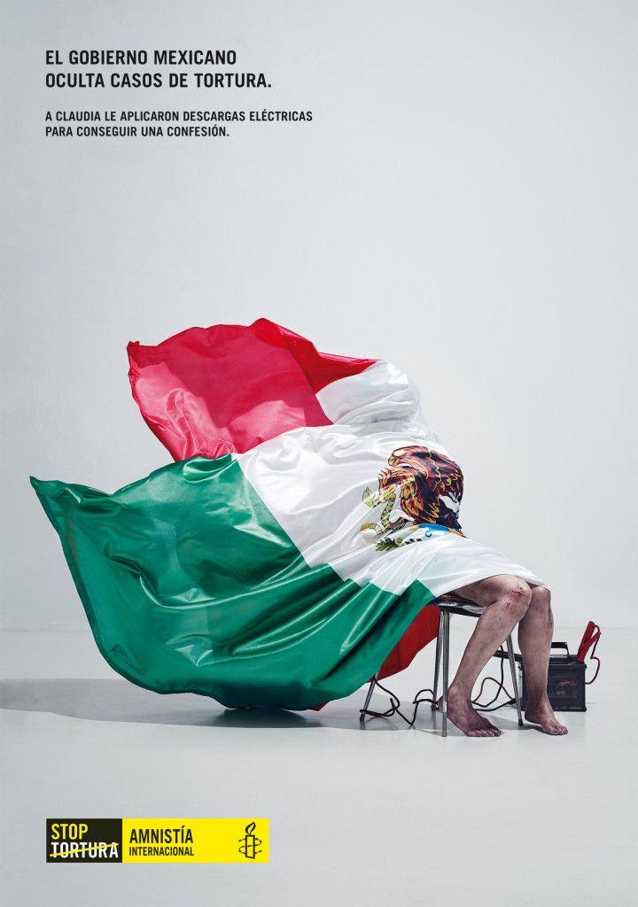 Banderas que ocultan violaciones de los derechos humanos. #StopTortura, « Tiempo de Publicidad