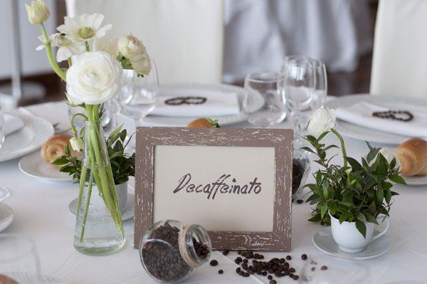 Coffee Inspired Wedding Table