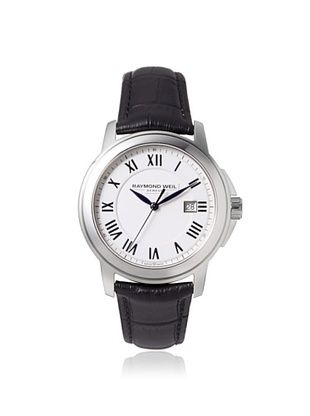 42% OFF Raymond Weil Men's 5478-STC-00300 Tradition Black/White Stainless Steel Watch