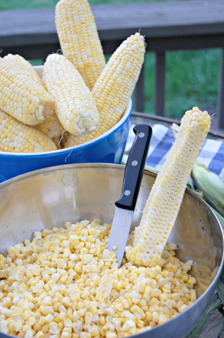 How to freeze sweet corn-no blanching