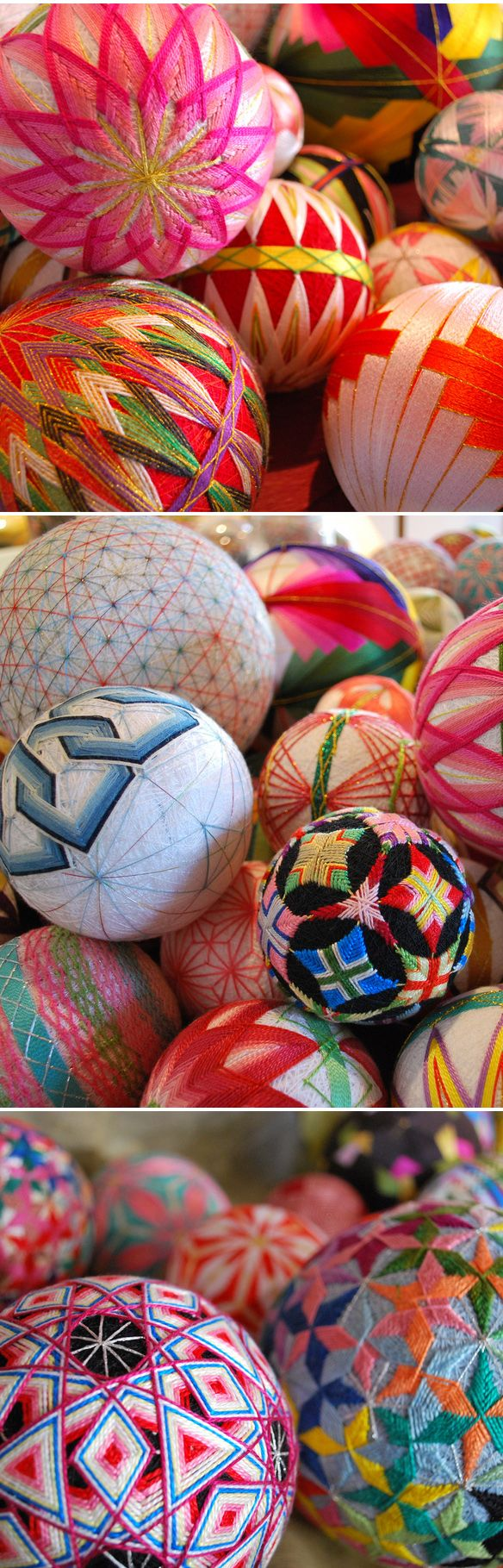 Temari balls made by Nana Akua's grandmother  Temari are highly valued and cherished gifts, symbolizing deep friendship and loyalty. Also, the brilliant colors and threads used are symbolic of wishing the recipient a brilliant and happy life.