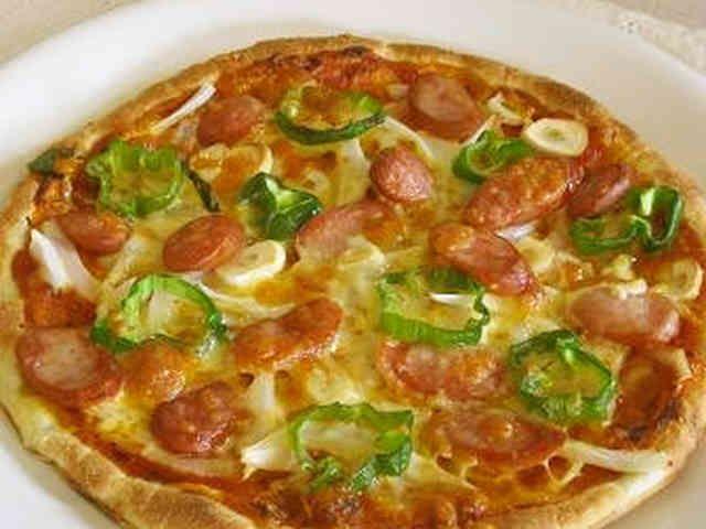 *魚焼きグリルで簡単!石窯風ピザ*の画像