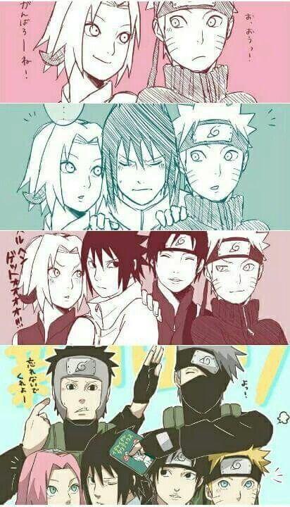 awww! Sasuke doesn't want Naruto near Sakura
