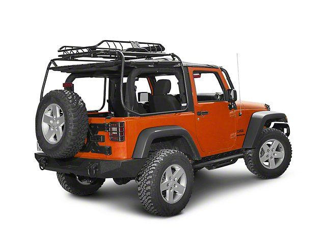 Rugged Ridge Jeep Wrangler Spartacus Roof Rack Basket Black 11703 03 87 19 Jeep Wrangler Yj Tj Jk Jl Jeep Wrangler Yj Jeep Wrangler Roof Rack Basket