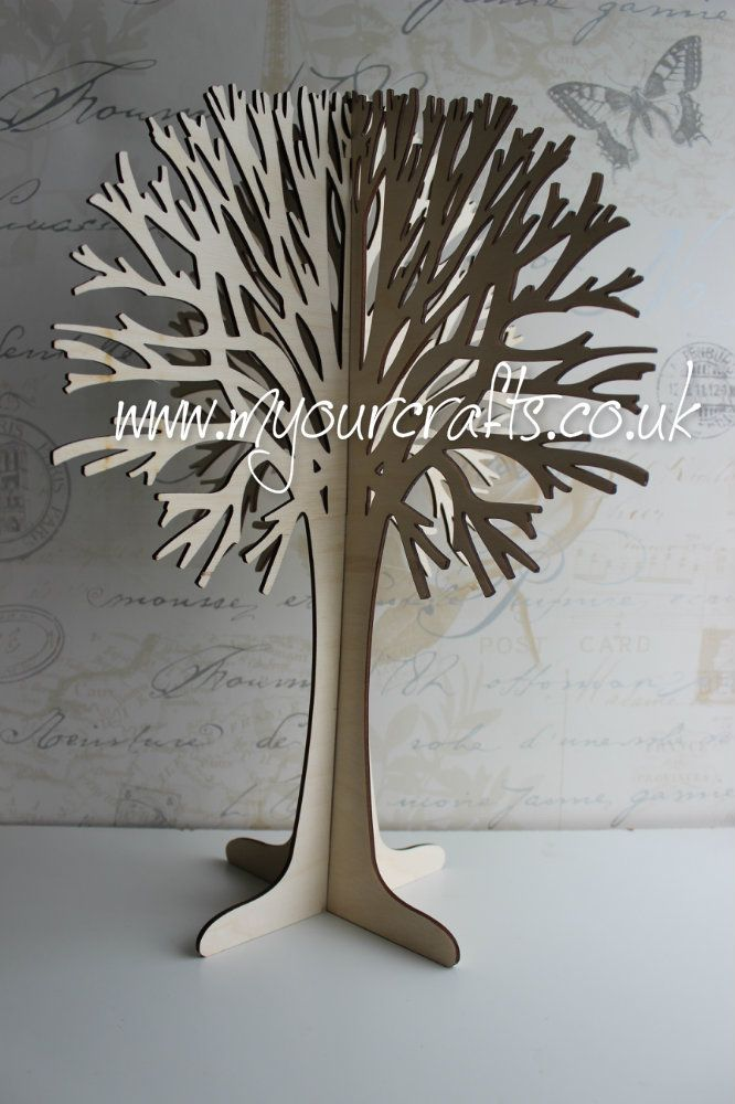 Wooden Free Standing 3d Tree Made From Ply Wood Can Be