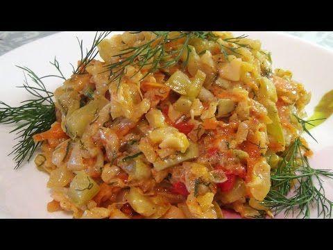 Супер вкусные тушеные кабачки с рисом - YouTube