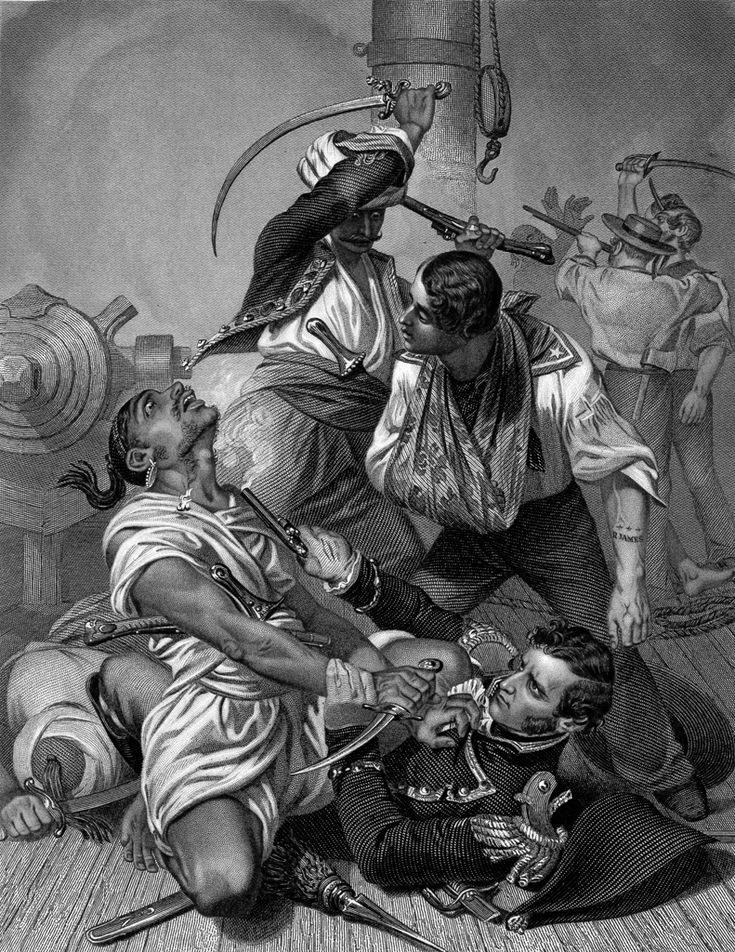 Apparently real pirates usually preferred their victims to surrender without a fight - less chance of the goods being damaged that way.