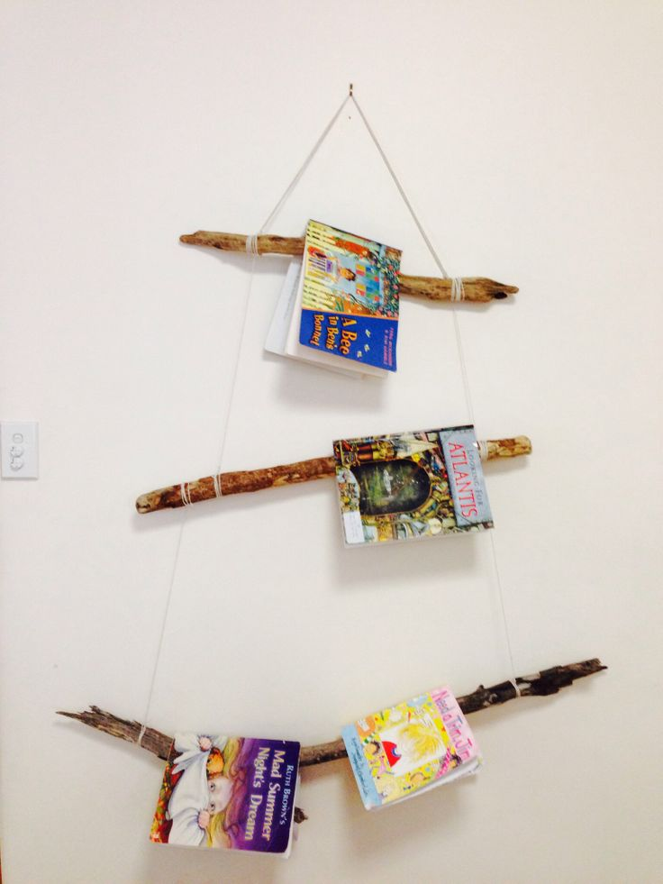 Driftwood book display