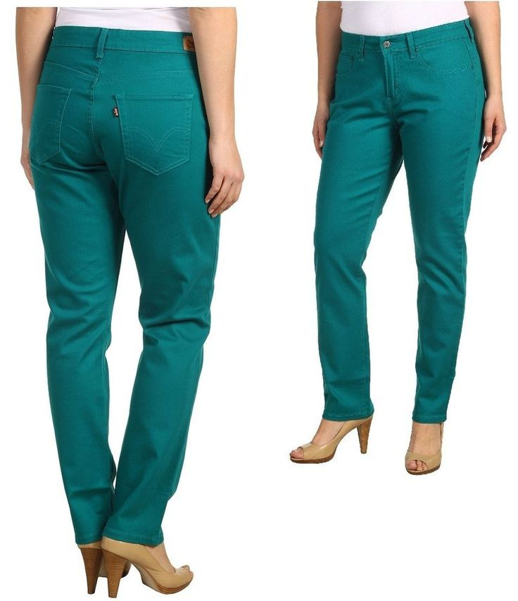 Details about Levi's 512 skinny leg jeans women's plus sizes; 16W ...