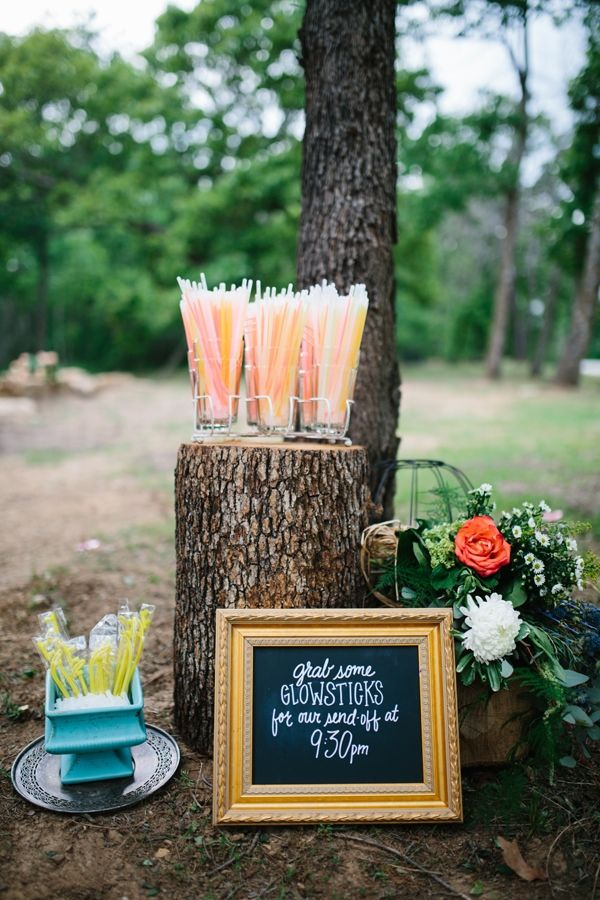 grab a glow stick for the send off Wedding Ideas