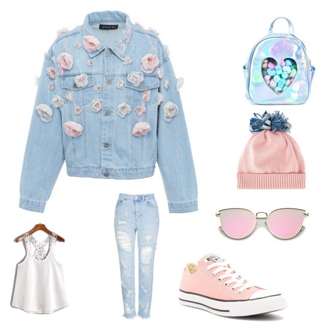"""""""AN DA's style ❤️"""" by an-da-i on Polyvore featuring Sugarbaby, Anouki, Topshop, Converse and Federica Moretti"""