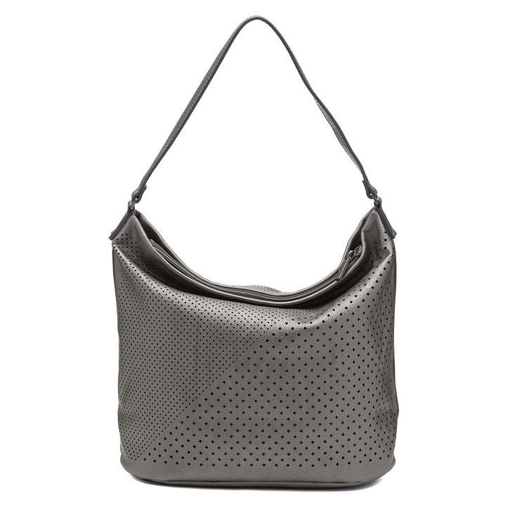 Sashenka by Olga Berg - Sashenka 'Sutton' Industria Laser Cut Hobo - Sa9170 (Metallic Handbag)
