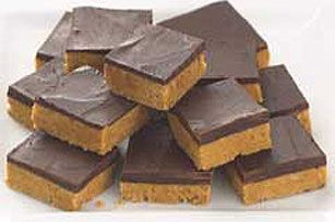 No-oven Peanut Butter Squares Recipe #planters