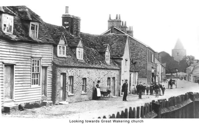 Great Wakering High Street, looking towards the church, 1900
