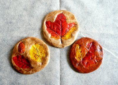 Salt Dough Fall Leaf Prints