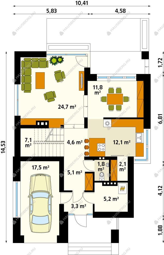 Проект 34-44 построить, строительство дома цена под ключ из газобетон, керамические блоки