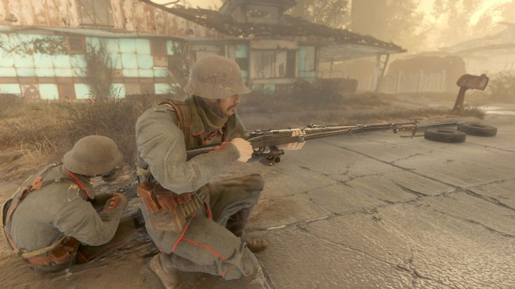 German soldier and wounded comrade during the Spring Offensive (1918 Colorized) #Fallout4 #gaming #Fallout #Bethesda #games #PS4share #PS4 #FO4