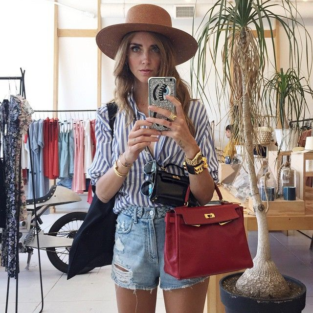 chiaraferragniI need ten hats like this one #HatObsessed #TheBlondeSaladNeverStops  Always wearing my @chiaraferragnicollection Iphone cover ✌️