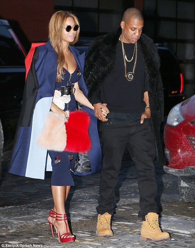 Crazy in love: Beyonce and Jay Z were spotted holding hands as they left close friend Kanye West's fashion show on Thursday  12.02.2015