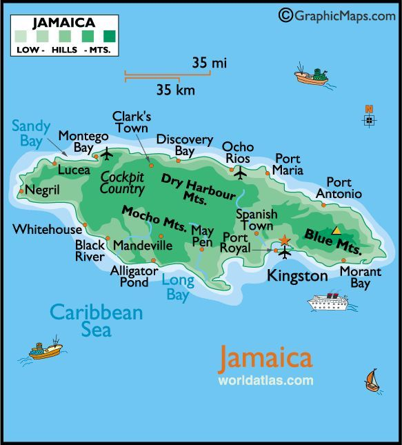 Best Jamaica Images On Pinterest Jamaica Maps And Jamaica - Jamaica map