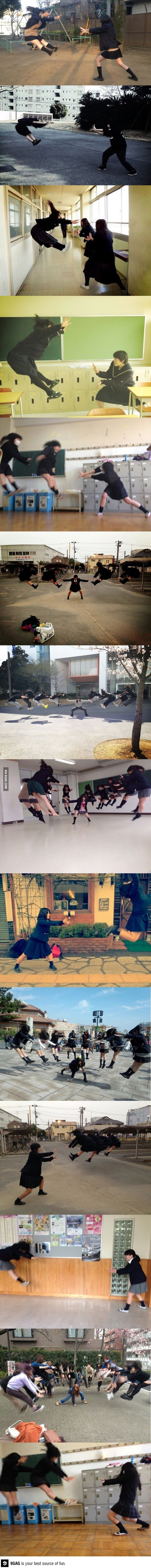 New japanese schoolgirls hobby Umm it reminds me of Dragon Ball Z lol