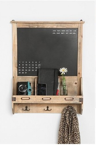An Entry Way Landing Strip that takes up no floor space via @refinery29  Urban Outfitters Vintage Wood Calendar Chalkboard, $49, available at Urban Outfitters.