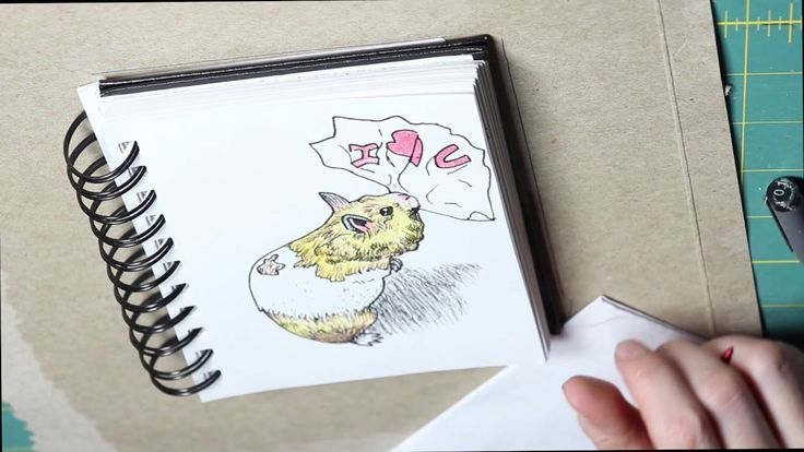Hamster Valentine's card