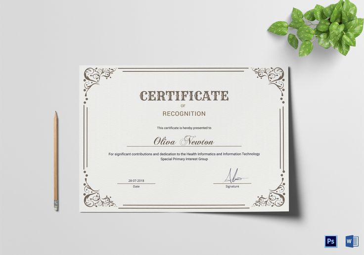Simple Congratulation Certificate Template  Formats Included
