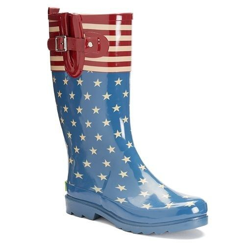 These boots with some serious patriotism.   25 Pairs Of Rain Boots That Are  Actually