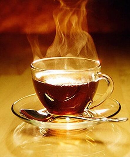 Hot Black Breakfast Tea! This stuff with fill you up in the morning