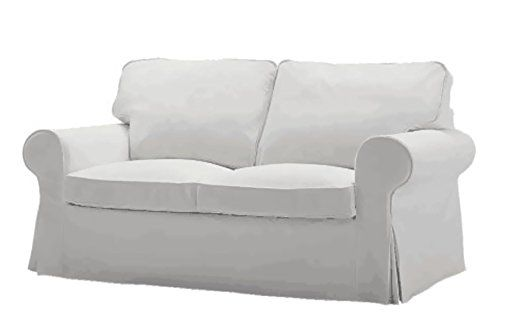 The Ektorp Two Seater Sofa Bed Cover Replacement IS Custom Made For Ikea Ektorp 2 Seater Sleeper Only, A Quality Sofa Slipcover Replacement. (cotton white)